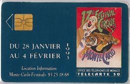 PHONE CARD - MONACO (E36.37.6 - Monaco