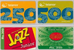 LOT 4 PREPAID PHONE CARD- PAKISTAN (E36.42.5 - Pakistan
