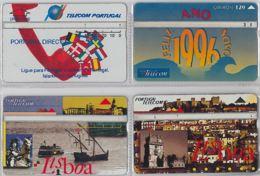 LOT 4 PHONE CARD- PORTOGALLO (E37.3.5 - Portogallo