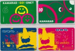 LOT 4 PREPAID PHONE CARD- ROMANIA (E37.27.1 - Romania