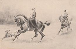 Très Belle Carte Postale Ancienne De Chien Lévrier  WHIPPETS Ou GREYHOUND  Ou BARZOI - Chiens
