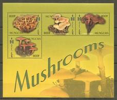 A418 MONGOLIA FLORE PLANTS MUSHROOMS 1KB MNH - Mushrooms