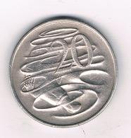 20 CENTS 1968 AUSTRALIE /8973/ - Monnaie Décimale (1966-...)
