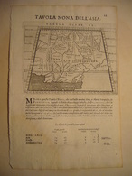1620  INDIA : PAROPANISO, GEODRESIA, ARACOSIA, GEDROSIA  GEOGRAFIA DI  CL TOLOMEO E  GIO. ANTONIO MAGINI PADOVANO - Carte Geographique
