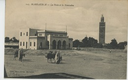 AFRIQUE - MAROC - MARRAKECH - La Poste Et La Koutoubia - Marrakech