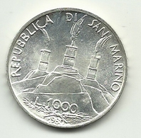 1980 - San Marino 1.000 Lire San Benedetto - San Marino