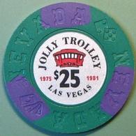 $25 Fantasy Casino Chip. Jolly Trolley, Las Vegas, NV. N10. - Casino