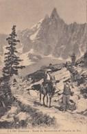 CHAMONIX-ROUTE DU MONTENVERS ET L'AIGUILLE-CARTOLINA NON VIAGGIATA -ANNO 1915-925 - Chamonix-Mont-Blanc