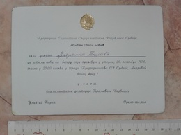 1976 KONGERIGE NORGE PRESIDENT YUGOSLAVIA JOSIP BROZ TITO INVITATION CARD CELEBRATE OF KINGDOM NORWAY - Announcements