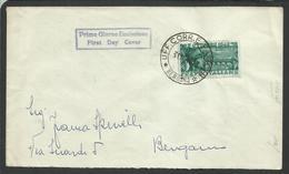 ITALIA REPUBBLICA ITALY REPUBLIC 1948 PONTE DEGLI ALPINI BASSANO DEL GRAPPA FDC VIAGGIATA - F.D.C.