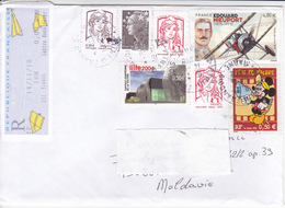 France To Moldova  , 2018 , Airships , Used Cover - France