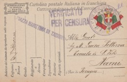 CARTOLINA IN FRANCHIGIA I GUERRA -PIAZZA MARITTIMA (LK249 - 1900-44 Vittorio Emanuele III