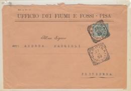 LETTERA 1909 CENT.5 TIMBRO CASCINA -UFFICIO DEI FIUMI E FOSSI (LK342 - Marcophilie
