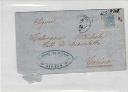 LETTERA 1869 CON 20 CENT.TIMBRO STRESA  (LK524 - Storia Postale