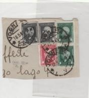 FRAMMENTO CON 5 MARCHE DA BOLLO VIAGGIATE 1945 TIMBRO VOGHERA (LK564 - 5. 1944-46 Lieutenance & Umberto II