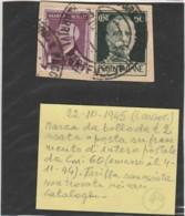 FRAMMENTO CON MARCA DA BOLLO LIRE 2 +60 CENT. VIAGGIATA 1945 (LK565 - 5. 1944-46 Lieutenance & Umberto II