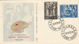 FDC 1955 BEATO ANGELICO 10+25 LIRE (LK797 - F.D.C.