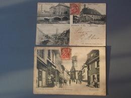 Cpa Souvenir De Massevaux Masmünter 1906 & Souvenir De Massevaux Gruss Aus Masmünter Haupstrasse 1906 - France