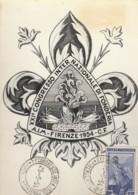 CARTOLINA 1954 CON 50 CENT. ITALIA AL LAVORO CONGRESSO FONDERIA (LK852 - 1946-.. République