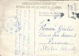 CORRISPONDENZA PRIGIONIERI DI GUERRA -DESTINAZIONE ITALIA LIBERATA  (LK903 - Franchise