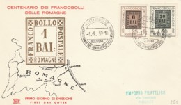 FDC 1959 CENT.FRANCOBOLLO ROMAGNE (LK931 - 1946-60: Storia Postale