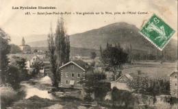 D64  Saint-Jean-Pied-de-Port  Vue Générale Sur La Nive, Prise De L'Hôtel Central  ..... - Saint Jean Pied De Port