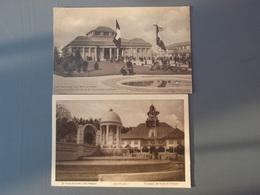 2 Cpa Carte Postale Officielle De L'exposition Nationale Suisse à Berne 1914 - Gileppe (Barrage)