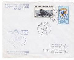 TAAF - Courrier - Terre Adélie - 25/12/1968 - Cachet PEV - Covers & Documents