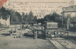 I3 - 38 - PONCHARRA-SUR-BRÉDA - Isère - Place De La Gare Et Arrivée Du Tramway De La Rochette Et Allevard-les-Bains - Pontcharra