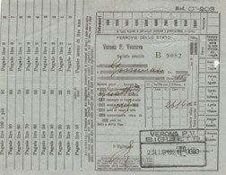 1921 VERONA P.VESCOVO BIGLIETTO FERROVIARIO (FX176 - Chemins De Fer