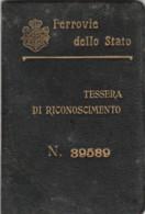 1924 FERROVIE -RICONOSCIMENTO  TESSERA (FX281 - Europa