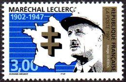 France Histoire N° 3126 ** Personnage - Militaire - Général Leclerc Et Croix De Lorraine - Guerre Mondiale (Seconde)