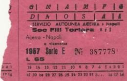 ACERRA NAPOLI + L 1,50 BIGLIETTO AUTOLINEE (FX524 - Europa