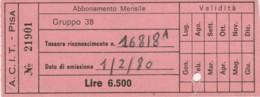 ACIT PISA - 1980 ABBONAMENTO (FX352 - Abonnements Hebdomadaires & Mensuels