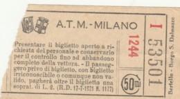 ATM MILANO 50 CENT BIGLIETTO AUTOBUS (FX337 - Bus