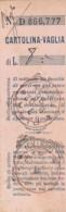 CARTOLINA VAGLIA PRIMI 900 RICEVUTA (FX157 - 1900-44 Victor Emmanuel III.