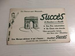 Buvard Ancien CHAUSSURES SUCCÈS PARIS - Chaussures