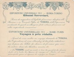 ESPOSIZIONI UNIVERSALI 1911 -STAB.MARZI -CARTOLINA PROMOZIONALE  (FX10 - Historische Documenten