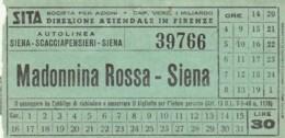 MADONNINA ROSSA - SIENA L.30 BIGLIETTO AUTOLINEE (FX399 - Bus