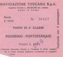 PIOMBINO PORTOFERRAIO BIGLIETTO TRAGHETTO (FX450 - Billets D'embarquement De Bateau