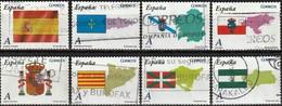 Spain 2009 - Flags Of Autonomous Provinces ( Mi 4374/81 - YT 4079/86 ) Complete Issue - 2001-10 Oblitérés