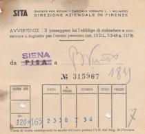 SITA SIENA BIGLIETTO AUTOLINEE (FX381 - Autobus