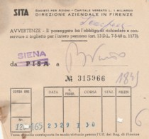 SITA SIENA BIGLIETTO AUTOLINEE (FX382 - Autobus