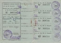 SPEDIZIONE KG 100 BAGAGLIO 1953 BUONO (FX24 - Treni