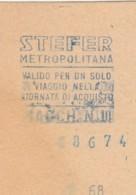 STEFER  BIGLIETTO AUTOBUS (FX447 - Autobus