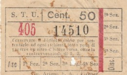 STU CENT.50 BIGLIETTO AUTOBUS (FX377 - Autobus