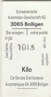 SVIZZERA BOLLIGEN GESELLSCHAFT BIGLIETTO NAVIGAZIONE (FX461 - Billets D'embarquement De Bateau