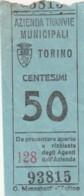 TORINO 50 CENT. BIGLIETTO AUTOBUS (FX323 - Autobus