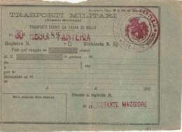 TRASPORTI MILITARI (SEGNI DEL TEMPO) BIGLIETTO FERROVIARIO (FX171 - Treni