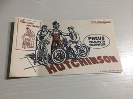 Buvard Ancien PNEUS HUTCHINSON PNEUS VÉLO MOTO VÉLOMOTEUR - Moto & Vélo